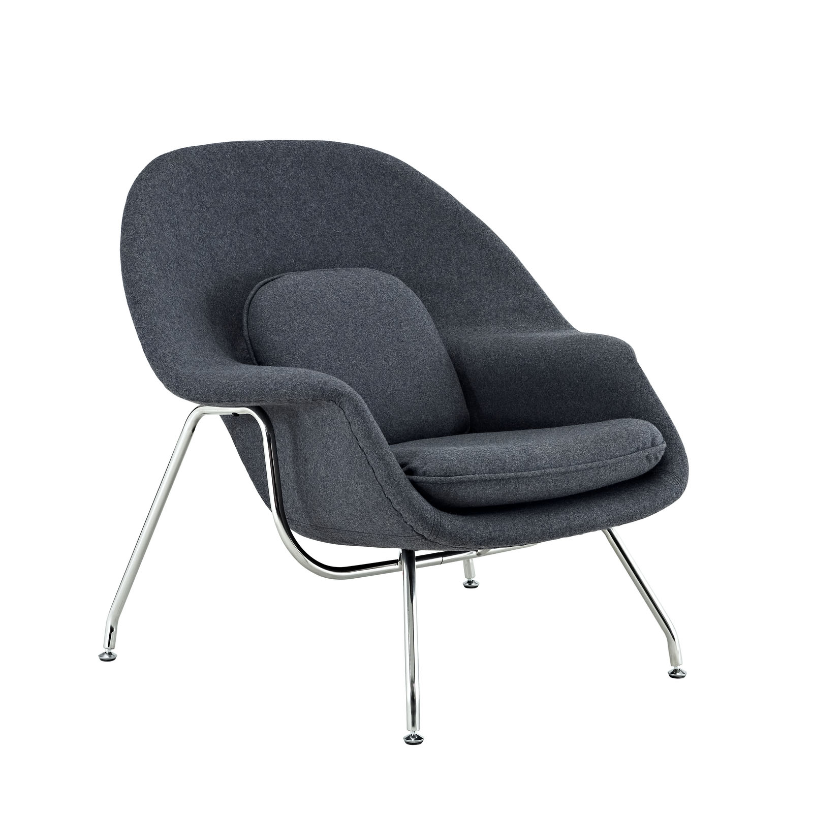 grey lounge chair finishing touches covers essex eero saarinen womb rentals event furniture rental