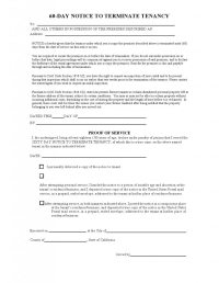 Free California 60 Day Notice to Vacate Form (as of 2013 ...
