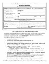 Free New York Record of Employment - IA12.3 | PDF Template ...