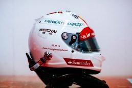 Ovanligt ren hjälm för Vettel