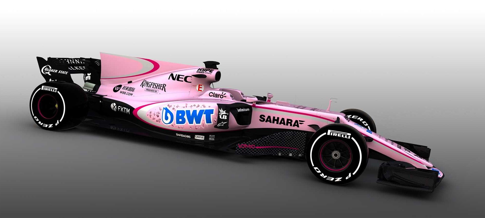 Nya rosa Force India VJM17