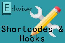 Edwiser : shortcodes et hooks