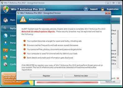 supprimer Virus win 7 security 2013
