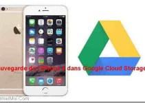 Sauvegarde liPhone6 dans Google Cloud Storage.