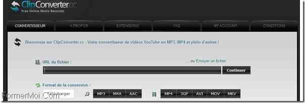 ClipConverter.cc télécharge des vidéos YouTube