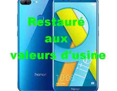 Huawei Honor 9 Lite restauré aux valeurs d'usine