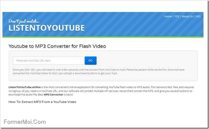 application convertisseur youtube