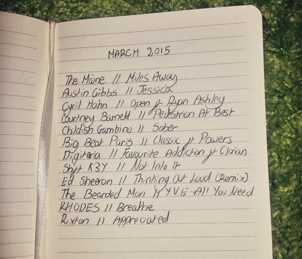 MUSIC // THE MARCH PLAYLIST