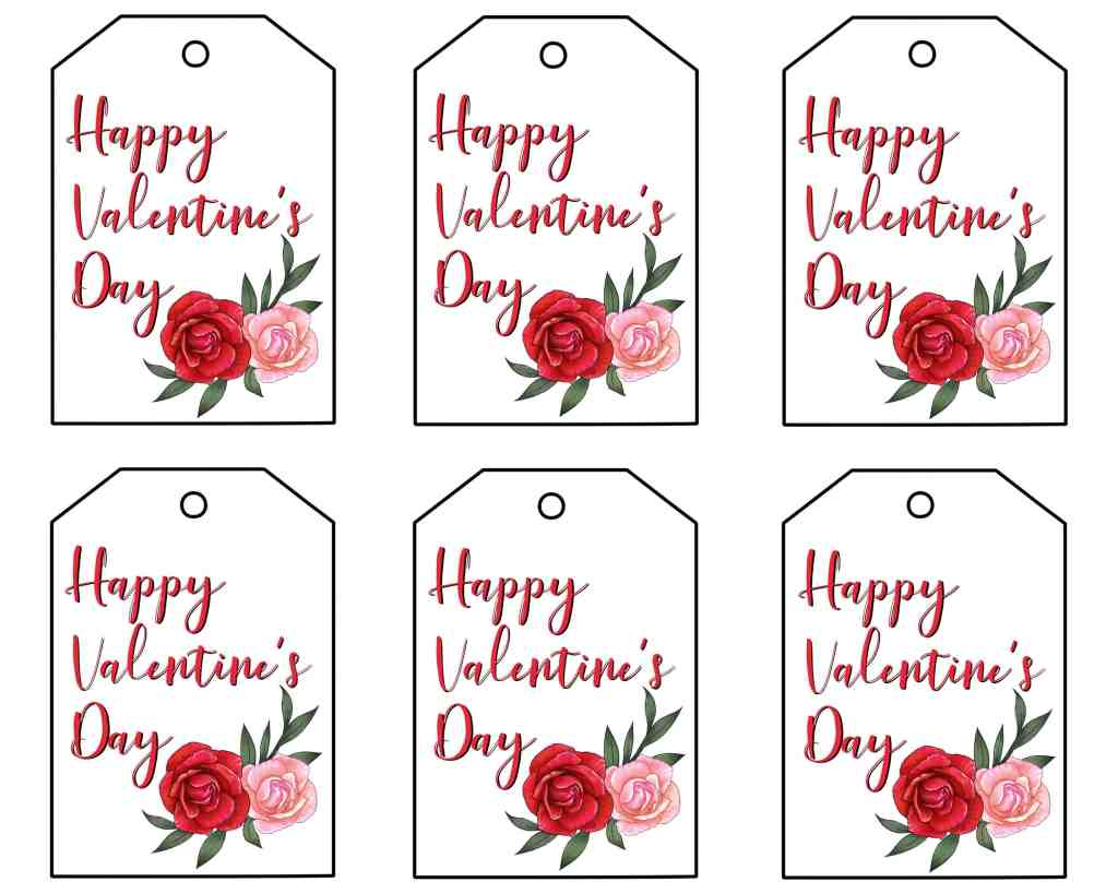 free printable valentine gift tags that are fun and pretty