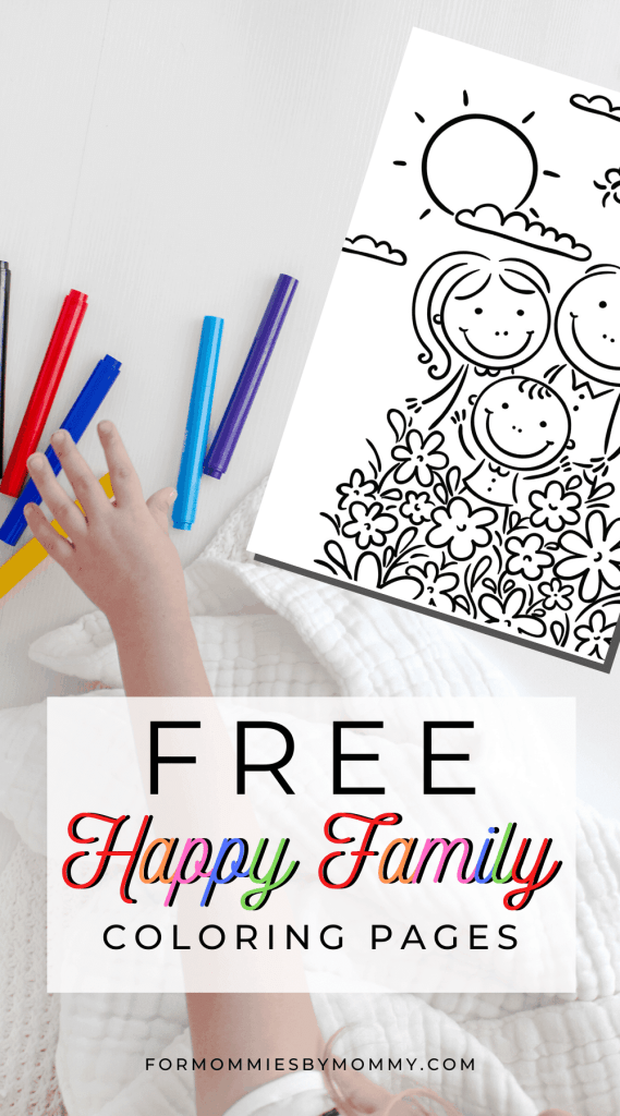 free printable happy family coloring pages for kids