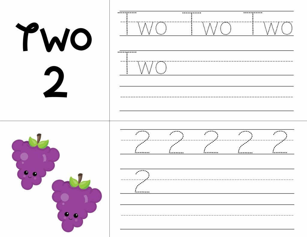 17 Fruity Fun Free Preschool Printable Worksheets Numbers 1 to 10