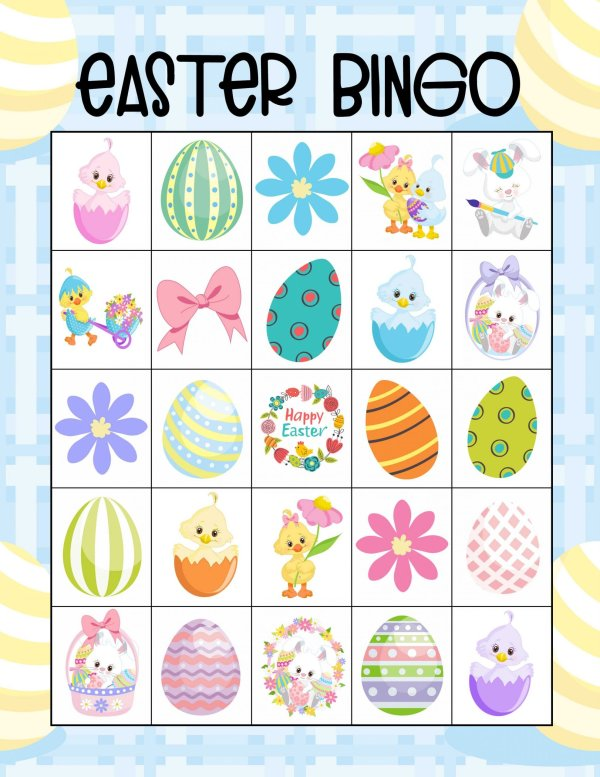 free easter bingo cards for 10