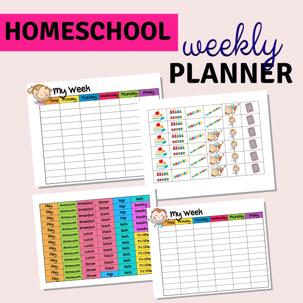weekly activity planner template for kids