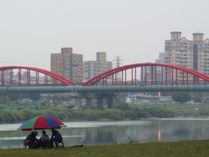 Pipeline on Hsin Tian River outside Treasure Hill