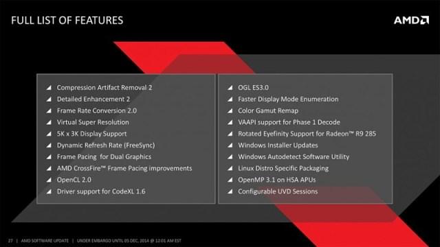 AMD Catalyst Omega 2015 Caracteristicas
