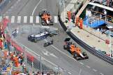 Pastor Maldonado (Williams F1 Team, FW35) Crashes and Max Chilton and Jules Bianchi from Marussia F1 Team (MR02)