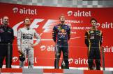 The Podium : Adrian Newey (Red Bull Racing), Nico Rosberg (Mercedes AMG F1 Team), Sebastian Vettel (Red Bull Racing) and Romain Grosjean (Lotus F1 Team)