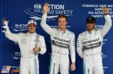 The Top Three Qualifiers : Third Place Felipe Massa, Pole Position Nico Rosberg and Second Place Lewis Hamilton