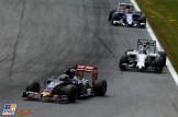 Max Verstappen (Scuderia Toro Rosso, STR10), Valtteri Bottas (Williams F1 Team, FW37) and Felipe Nasr (Sauber F1 Team, C33)