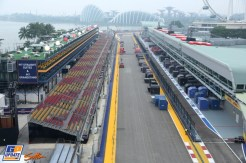 The Start and Finish Straight and The Pit Lane