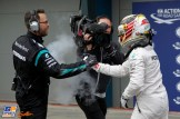 Lewis Hamilton (Mercedes AMG F1 Team) celebrating his Pole Position