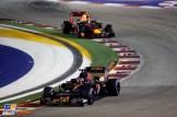 Daniil Kvyat (Scuderia Toro Rosso, STR11) and Max Verstappen (Red Bull Racing, RB12)