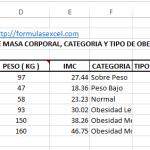 Formulas Excel Para Calcular Indice de Masa Corporal
