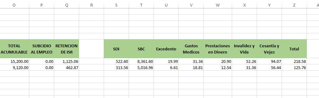 detalle calculo