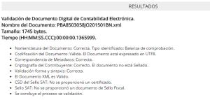 Validacion XML Balanza ContaFX