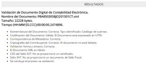 Validacion XML Catalogo ContaFX