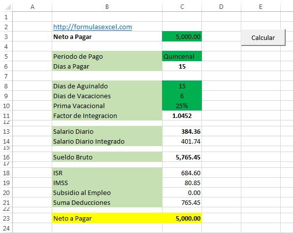Calculo Inverso de Sueldo en Excel
