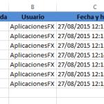 Registrar acceso a un archivo excel