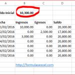 Control de Caja en Excel