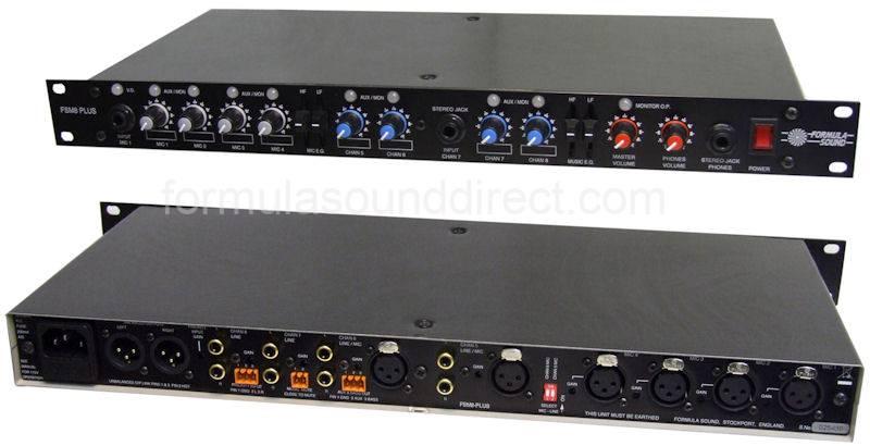 fsm 8 plus 8 channel rack mount mixer