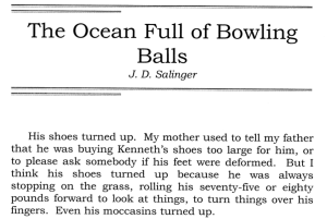 J.D. Salinger's Ocean Full of Bowling Balls Screen shot