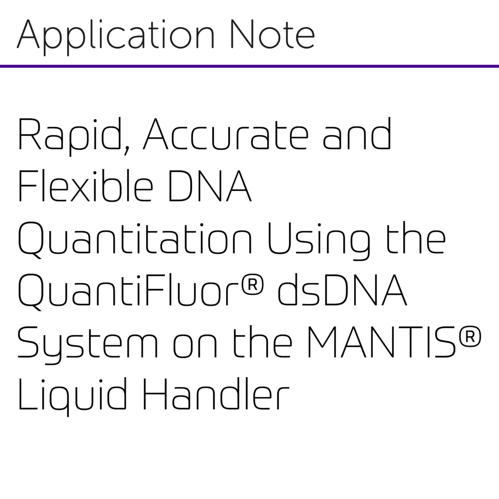 Rapid, Accurate and Flexible DNA Quantitation Using the