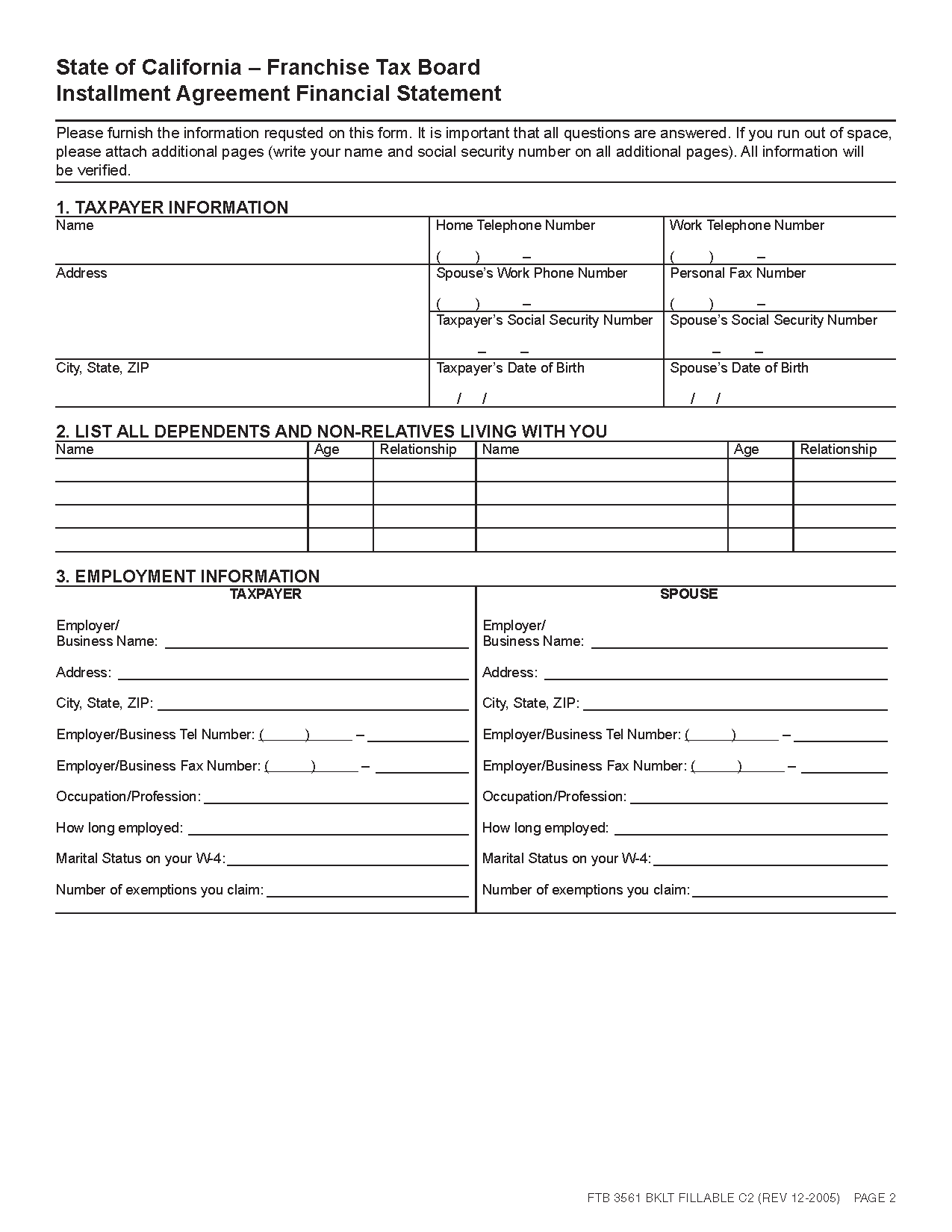 Chase Personal Financial Statement