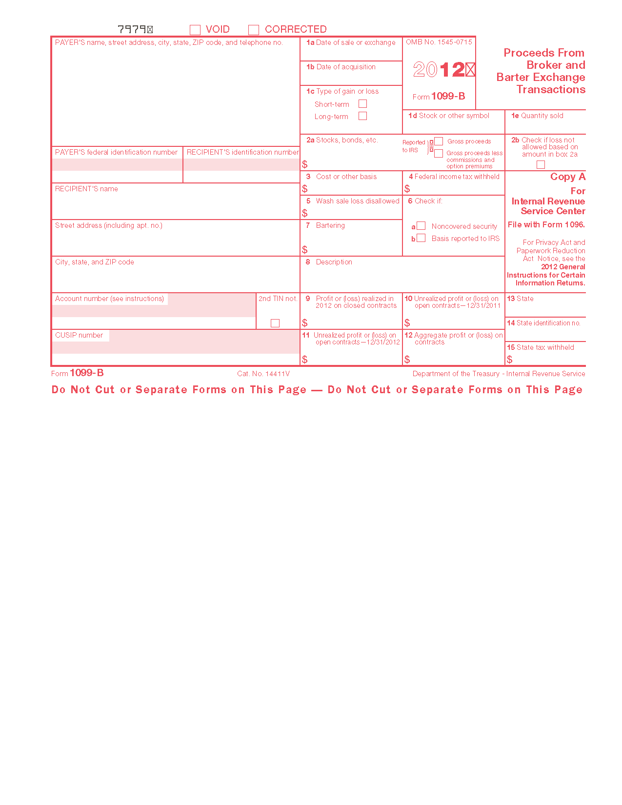 Sample Form Filled Out