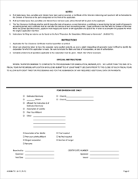 Form A-5088-TC Application for Tax Clearance and Instructions
