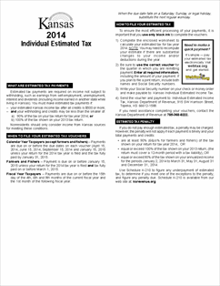 Form K-40ES Fillable 2014 Individual Estimated Income Tax