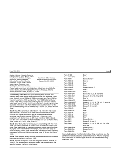 Form 1096 Fillable Annual Summary and Transmittal of U.S