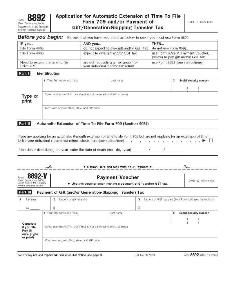 Irs Gift Tax Form 709 Extension | Creativepoem.co