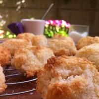 Dolcetti semplici di farina di cocco e albumi (i biscotti di Michela)