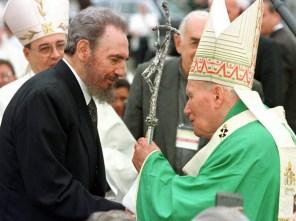 Castro y Wojtyla, uno para el otro...