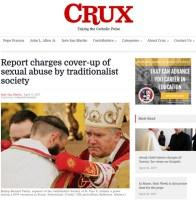 Portada de la denuncia reproducida en el diario CRUX.