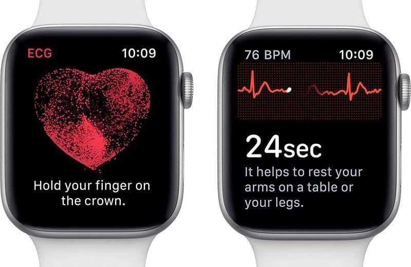 Electrocardiograma con un smartwatch para prevenir infartos.
