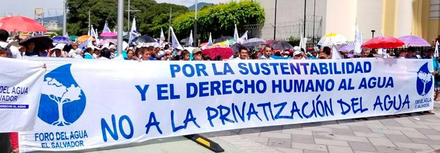 CIDH pide a El Salvador reconocer el derecho humano al agua