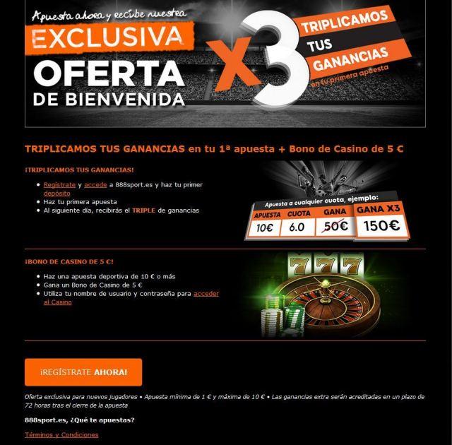 888 sport bono bienvenida ForoNaranja