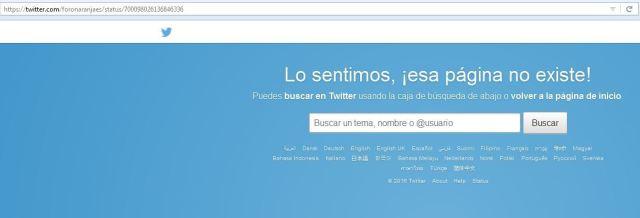 Censura Twitter foronaranja