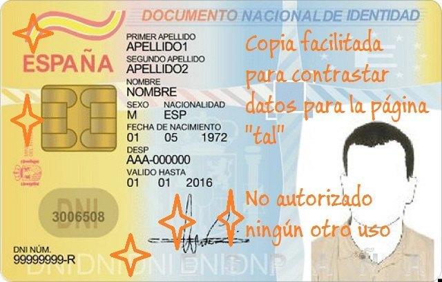 dni-verificacion- copia digitalizada suplantación de identidad foronaranja